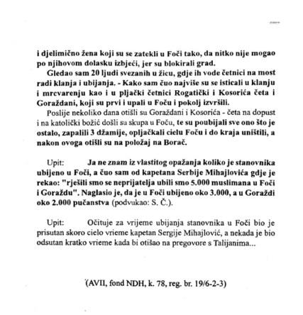 Foča - 1941.-1945. - dokumenti