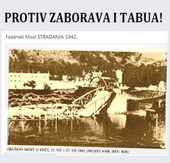 Foča - 1941.-1945. - dokumenti - Most Stradabja 1942.