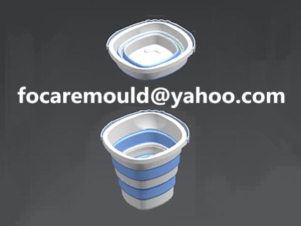 2k rubber water bucket folding