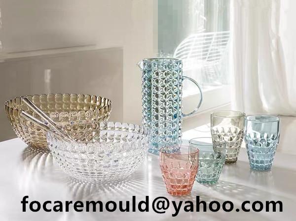 cristal design plastic tableware