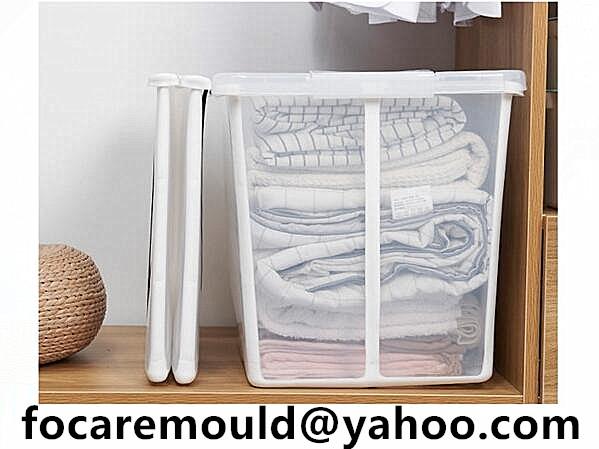 double mold storage bin folded
