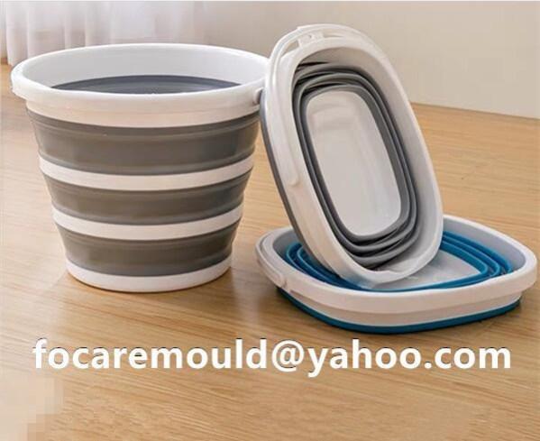 fold bucket injection mold 2k