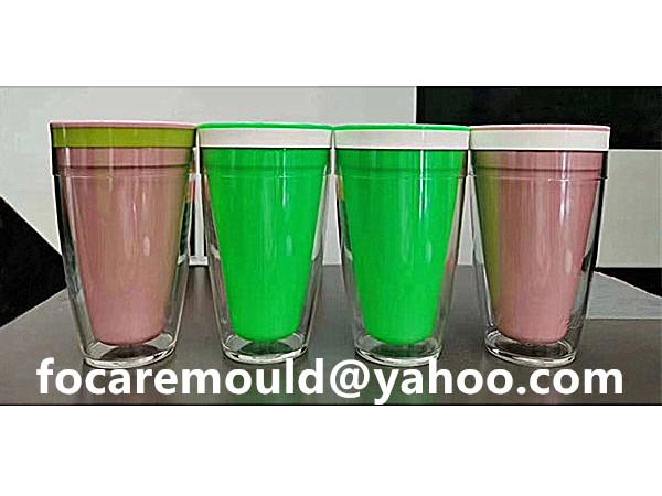 tricolor plastic mug mold