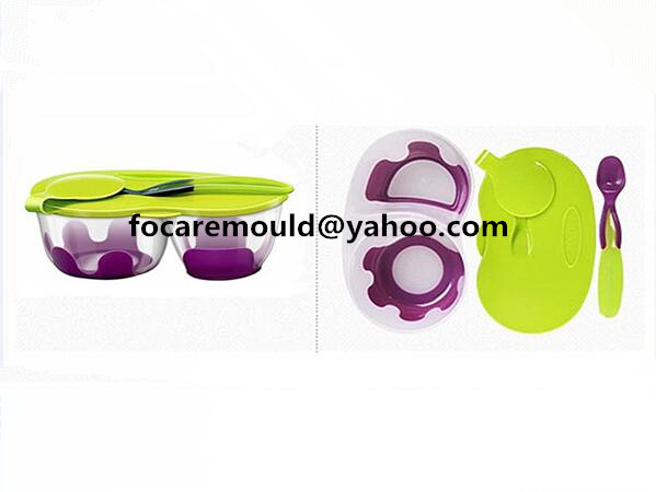 two color baby feeding bowl