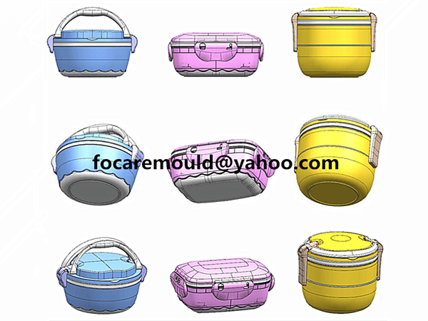 two colour food storage container