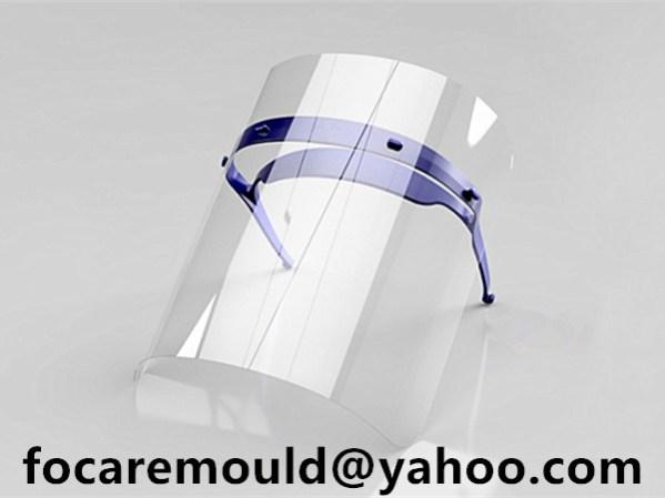 face protector headband mold