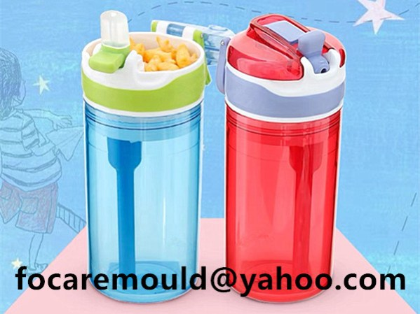 two tone plastic drink bottle