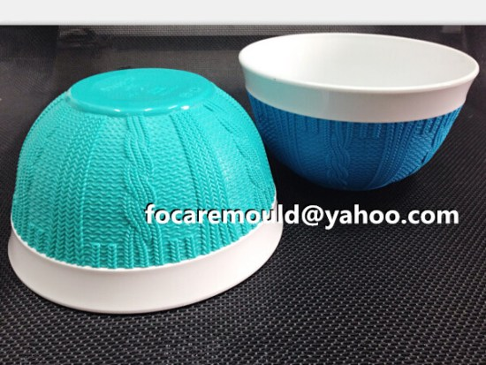 China double color component mould factory rattan tablewares