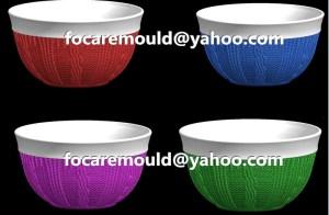 plastic bowls bi color mold design