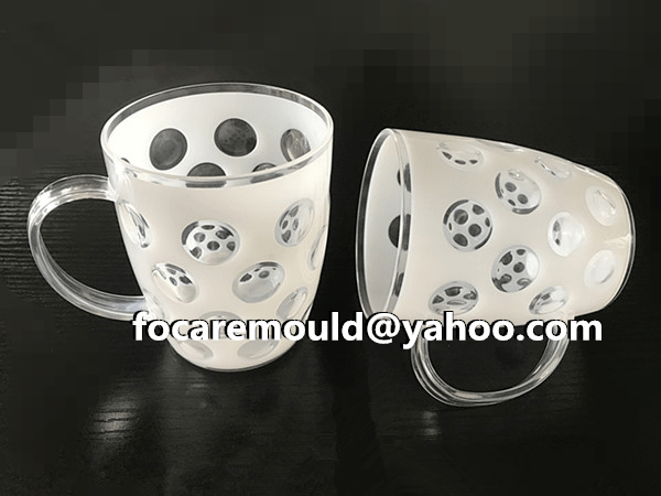 China two color beer mug mold