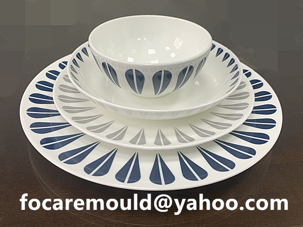double dinner plate mold injection