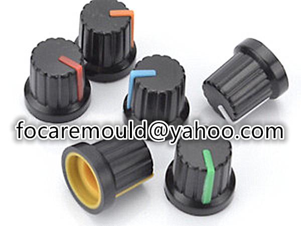 two color potentiometer cap mold