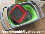 folding silicon basket two color mold