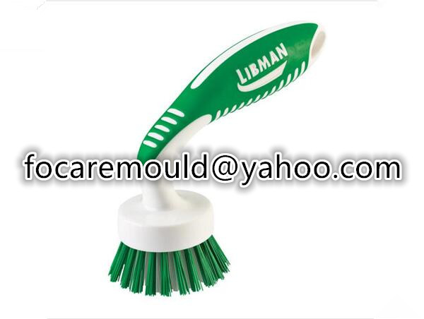 two color dish brush mold