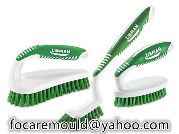 two color grip scrub brush mold
