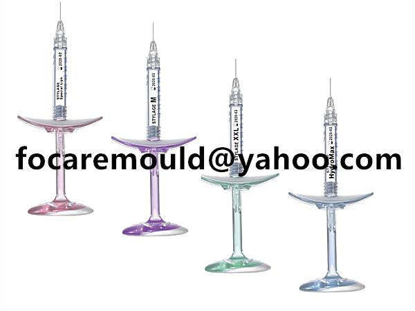 two color hyaluronic acid syringe mold
