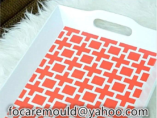 two color rectangle plastic trays mold