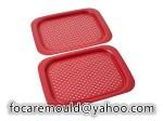 two color rectangle serving platter