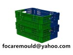 multi shot stackable crate mold