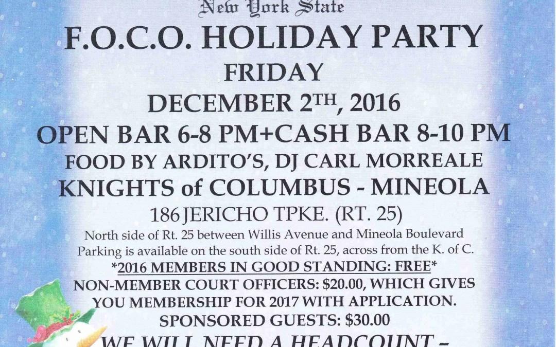 2017 F.O.C.O. Holiday Party