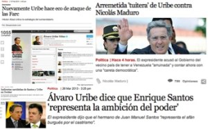 Figura 1: Uribe en Twitter: ¿Establece la agenda de los medios?