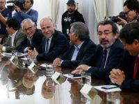 Santiago, 17 de abril de 2017 El presidente del PS, Alavaro Elizalde durante el Comite Politico de la Nueva Mayoria en La Moneda. Paul Plaza/Aton Chile