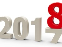 2017-2018 change represents the new year 2018, three-dimensional rendering, 3D illustration