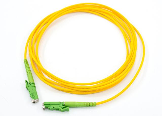 E2000 APC Fiber Optic Patch Cord, Single Mode Simplex Cable Wire