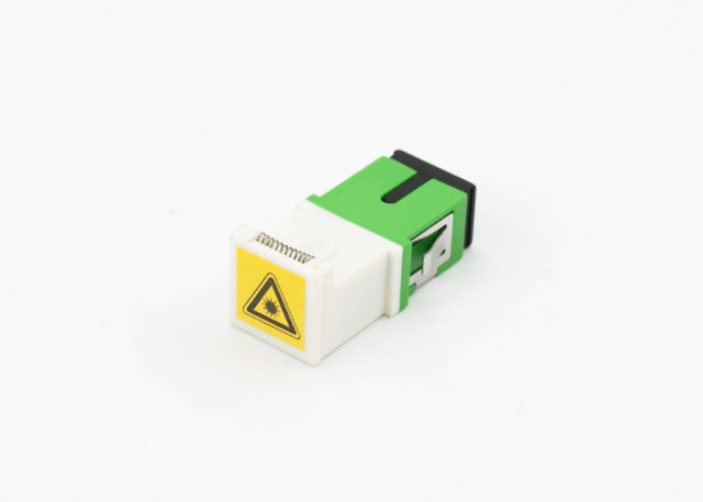 SC/APC Fiber Optic Shutter Adapter Short Flange