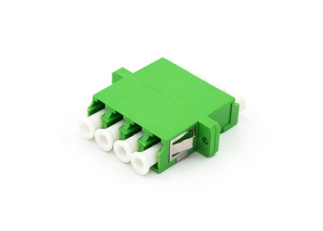 LC APC Quad Fiber Adapter Single Mode, SC Duplex Mounting