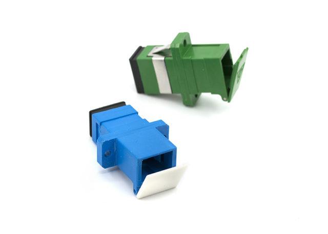 SC shutter Fiber Optic Adapter Simplex