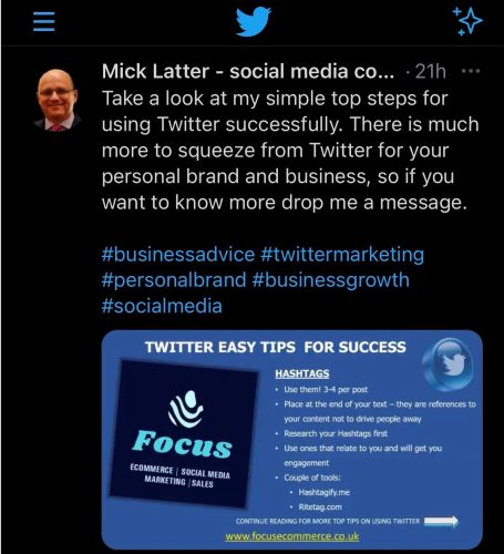 Twitter Content | Focus Ecommerce and Marketing
