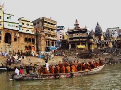 """Monks on the River"" by Rachel Cancino-Neill taken in Varanasi, India: 2010"