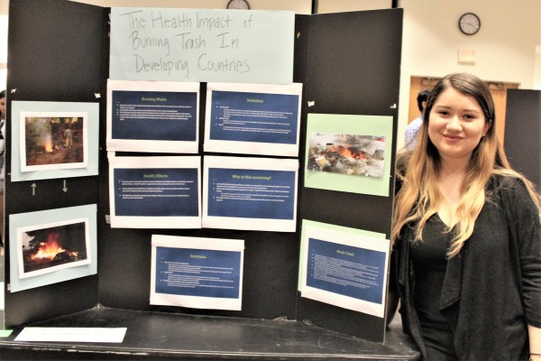 """2nd Place Poster: Stacey Ruiz, """"Health Impact of Burning Trash in Developing Countries"""""""