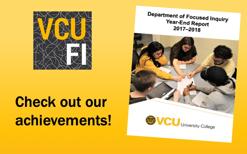 Check out our achievements! 2017–2018 Department of Focused Inquiry Year-End Report