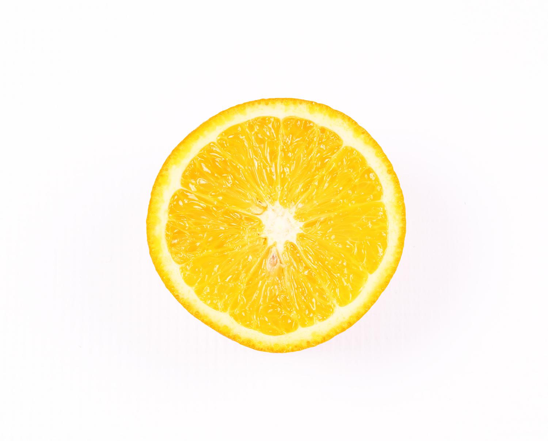 Half Orange Slice Isolated On White Background