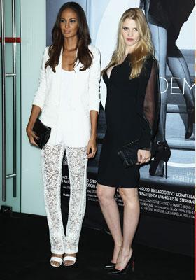 Joan Smalls et Lara Stone en Givenchy by Riccardo Tisci