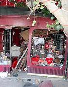 Un'immagine scattata sul luogo dell'attentato a Damasco (Epa)