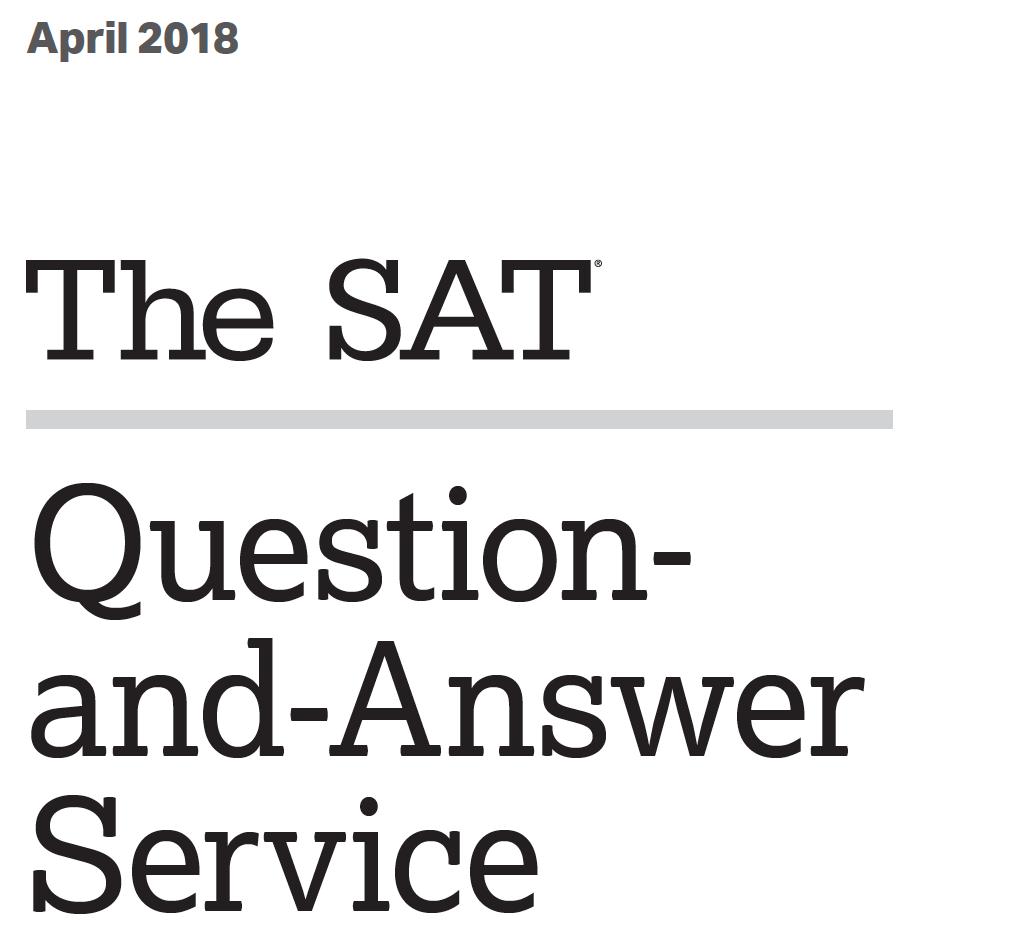 April 2018 SAT Test