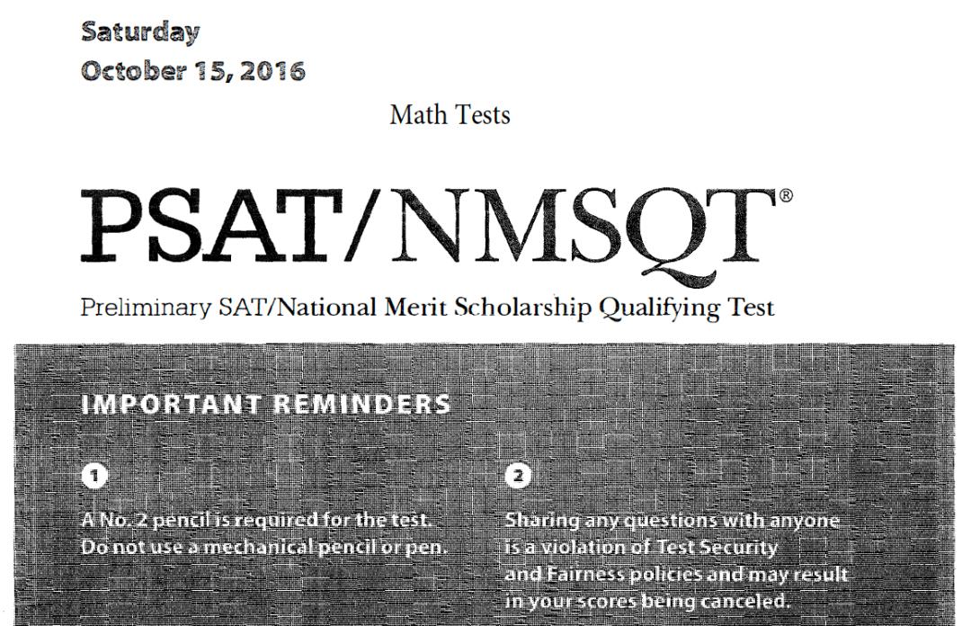 October 2017 PSAT Test - 10-14-2017 - Math tests