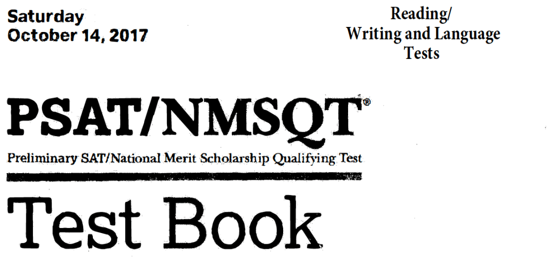 October 2017 PSAT Test - 10-14-2017 - Reading - Writing and Language Tests