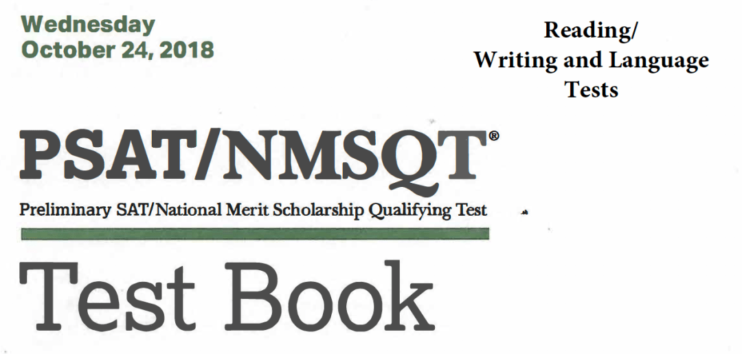 October 2018 PSAT Test - 10-24-2018 - Reading - Writing and Language Tests