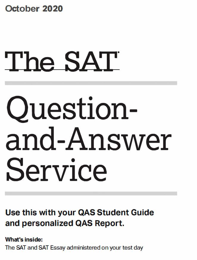 October SAT 2020 Test