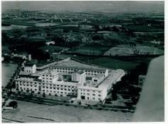 Veduta aerea dell'impianto. Inizialmente alcuni edifici non erano presenti e furono costruiti in un secondo tempo (1)