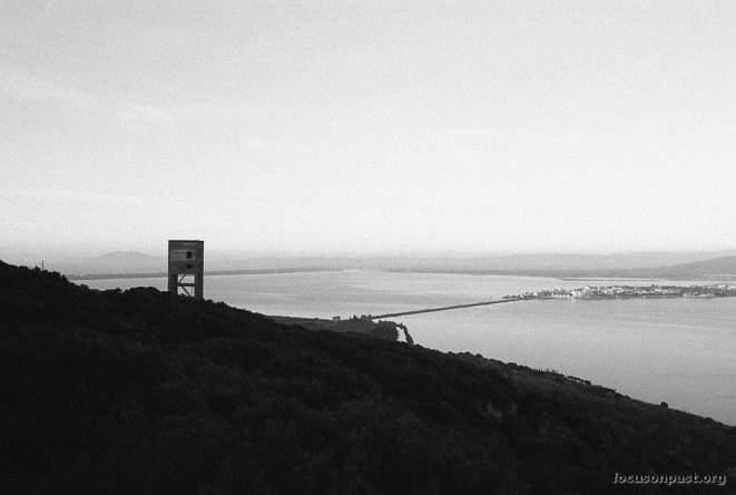 Torre sud e laguna di Orbetello