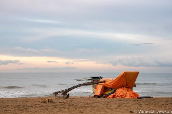 Sunrise on Wadduwa Beach, Sri Lanka