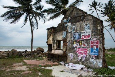 Last wall standing after the 2004 tsunami. Sri Lanka