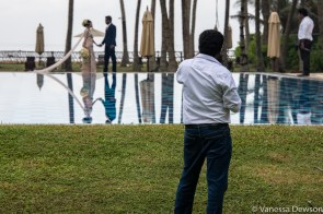 Wedding photographer at work, Sri Lanka.