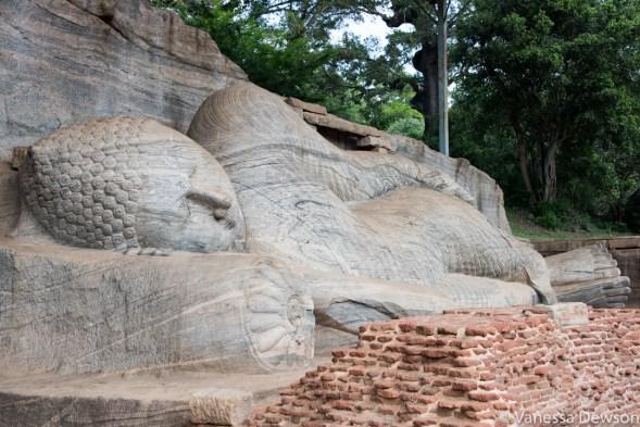 Reclining Buddha, Polonnawura, Sri Lanka