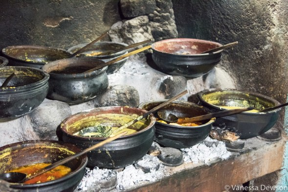 Traditional Sri Lankan cooking.
